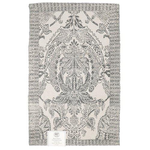 27x45 Medallion Print Cotton Accent Rug