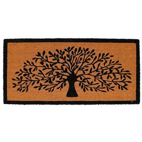 22x47 Decorative Tree Coir Double Doormat