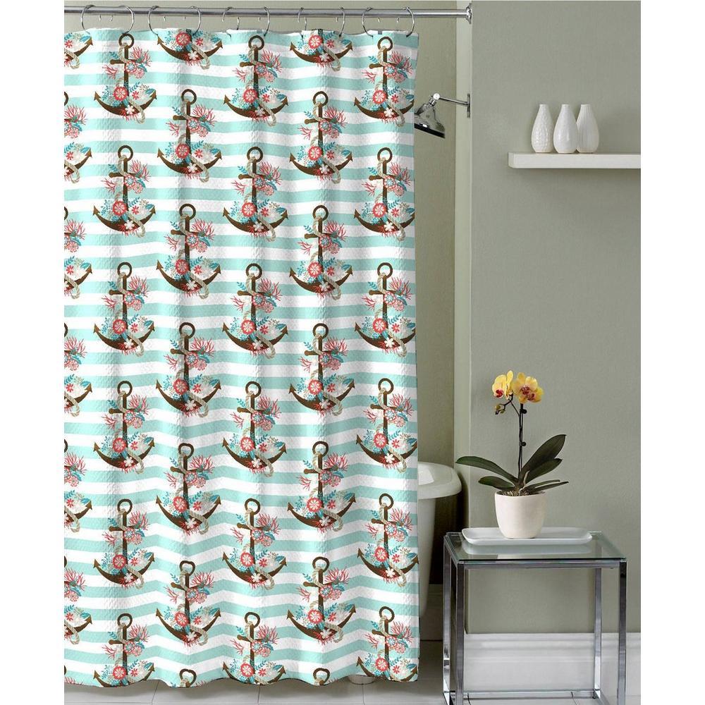 Cancun 70x72 Shower Curtain W Hooks