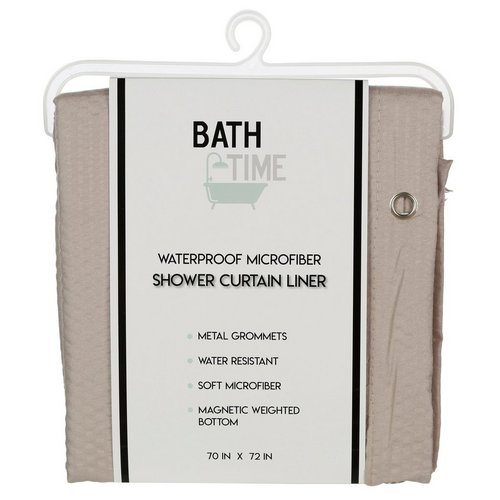 Waterproof Microfiber Shower Curtain Liner