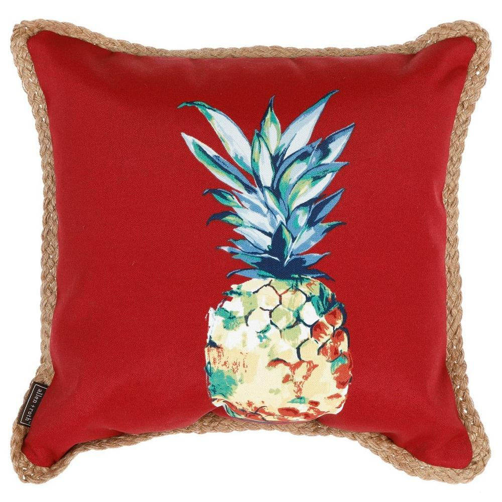 Pineapple Indoor Outdoor Pillow Red Burkes Outlet