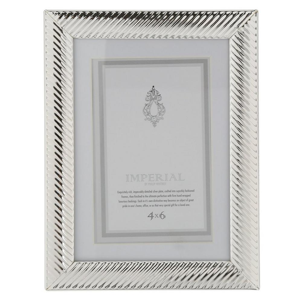 Decorative 4x6 Photo Frame Silver Burkes Outlet