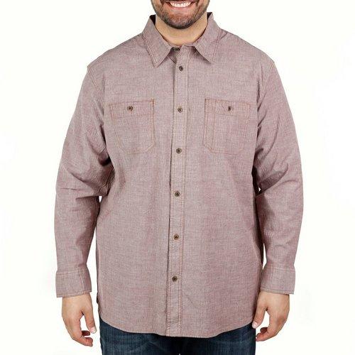 33e16f664964 Men s Big   Tall Solid 2-Pocket Long Sleeve ...