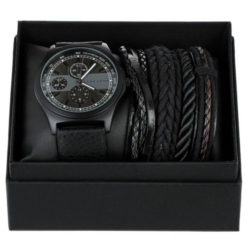 Add to bag. Men s Strap Watch   Bracelet Set - Black ec972153e56f3