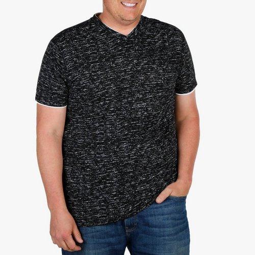 da4cb5a048 Men s Big   Tall Space-Dye V-Neck Shirt - Black