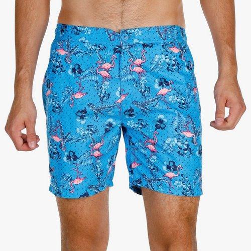 3a21a3d461 Men's Floral Flamingo Boardshorts - Blue