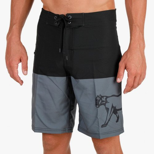 01f536c0a3 Men's Panther Color Block Board Shorts - Black/Grey