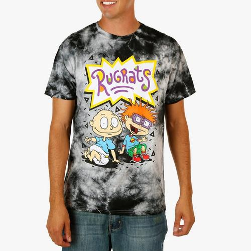 Men S Tye Dye Tee Rugrats Black