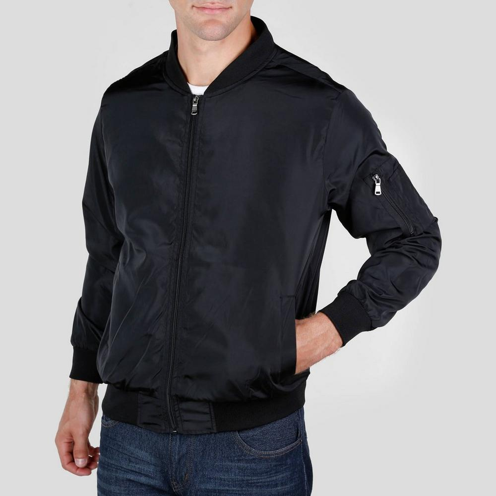6482c664856 Men s Nylon Bomber Jacket - Black