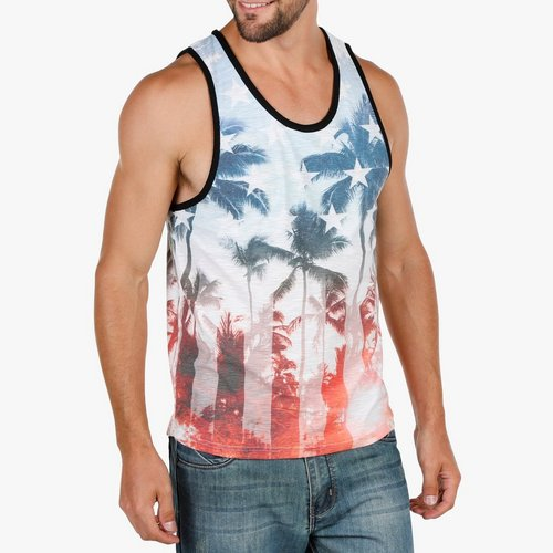 79e54c610dfa65 Men s Tropical Stars   Stripes Tank - Multi