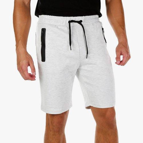 50fe5195a6 Men's Zip Pocket Knit Shorts - Light Grey