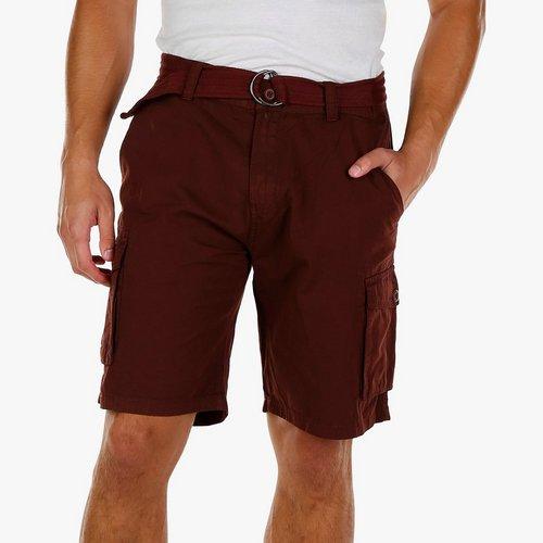 1618e7ad8d Men's Belted Cargo Shorts - Burgundy