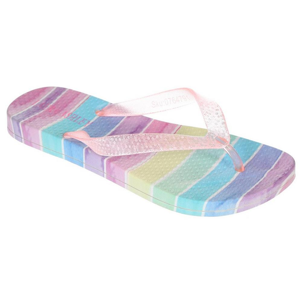 f29ae8306 Girls  Rainbow Flip Flops - Multi