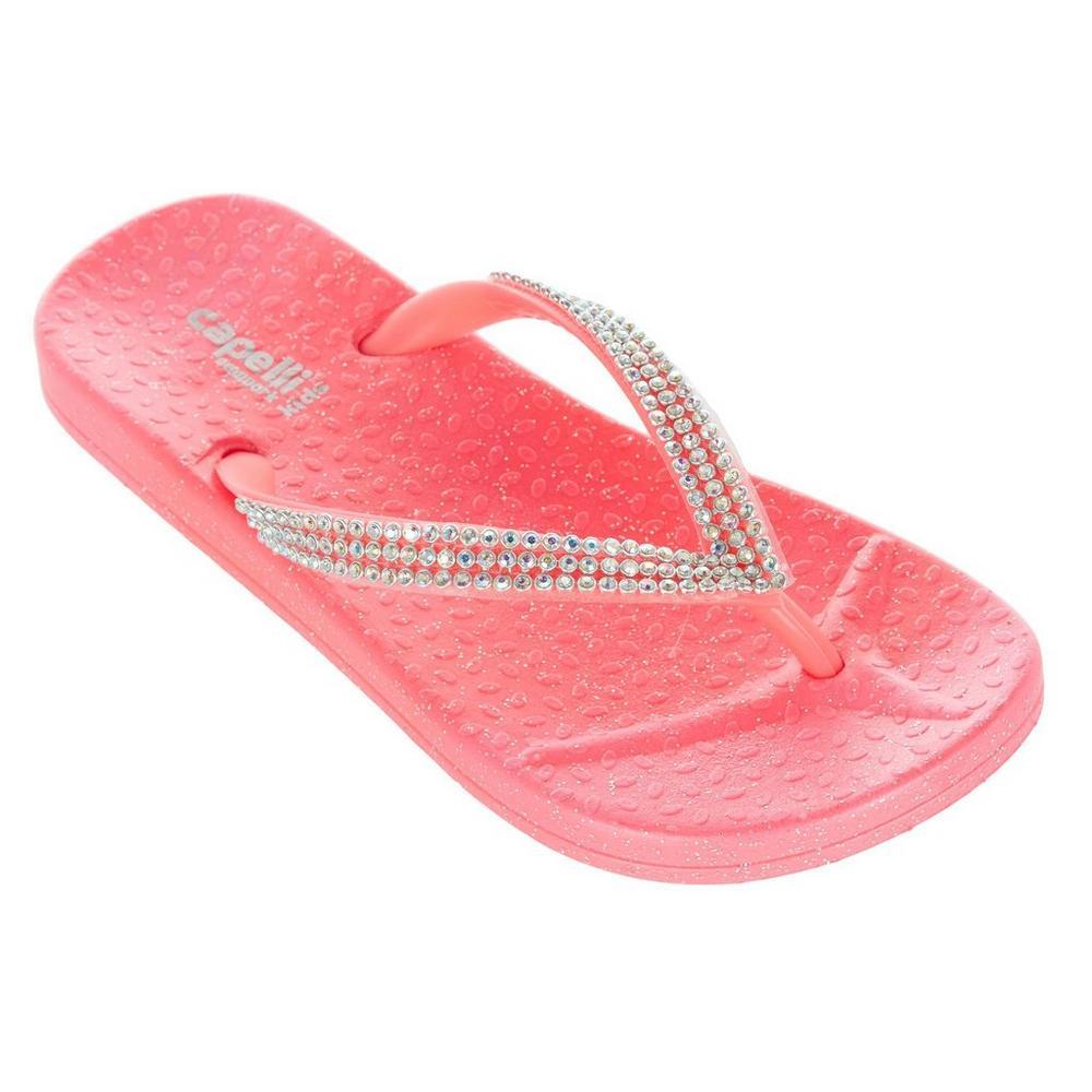 7c9759a97238 Girls  Bling   Glitter Flip Flops - Pink
