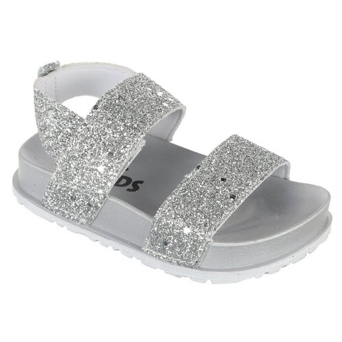 ce0dab48c Girls Linky Glitter Sandals - Silver
