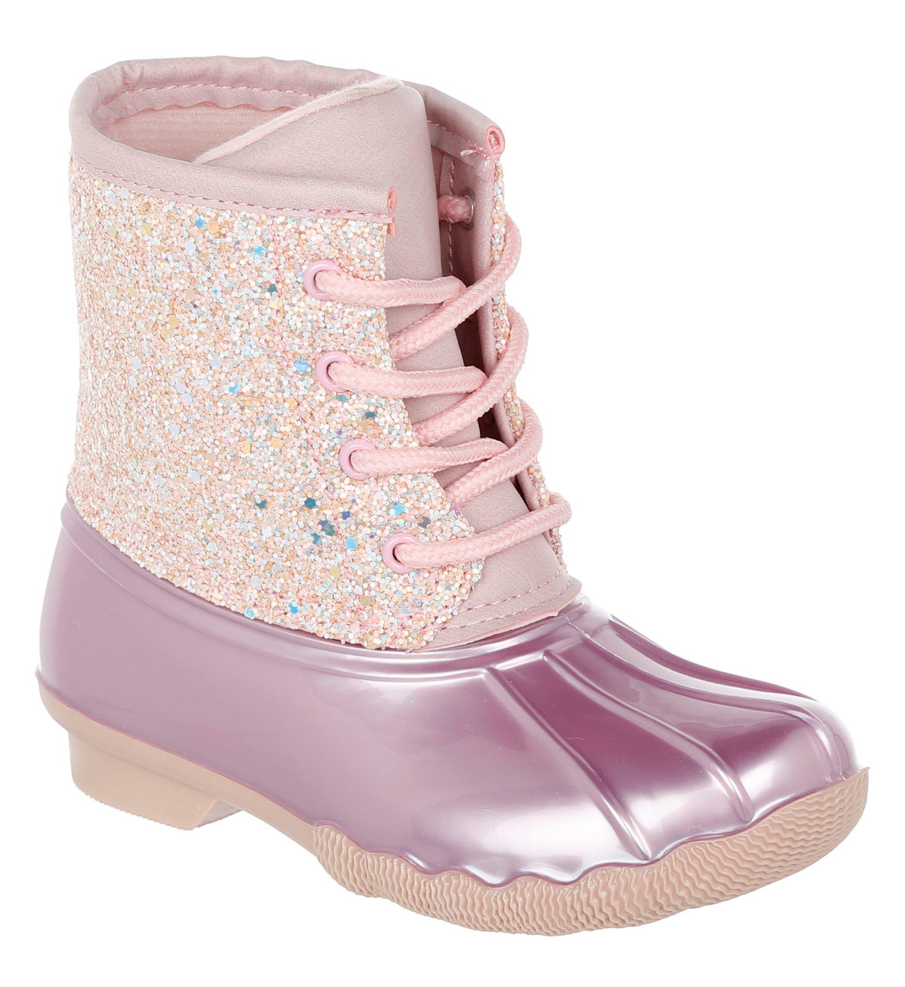 Girl/'s Glitter Duck Boots