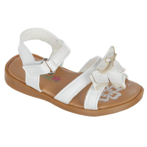 b86508eda34 Girls Flower Sandals - White