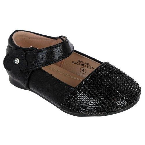 43f62712c6b Girls Sparkle Toe Mary Janes - Black