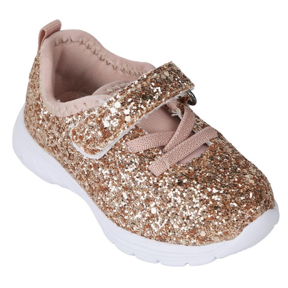 47c892a2d13c Glitter Athletic Velcro Shoes - Rose Gold
