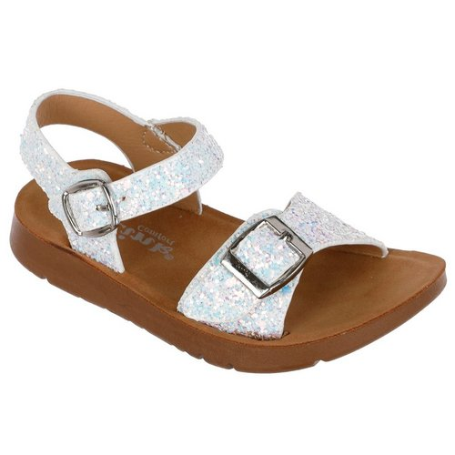 45ae7af1120 Girls Reform Sandals - White Glitter