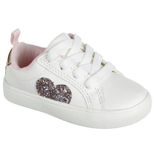 820e20414ec103 Emilia Glitter Heart Sneakers - White