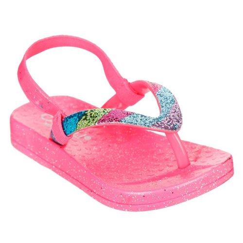 c65ef2a71 Girls Rainbow Thong Sandal - Pink Multi