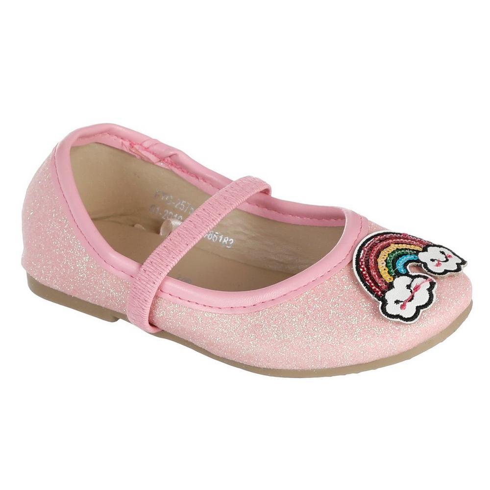 da2a801f6 ... Girls Glitter Rainbow Ballet Flats - Pink. Click to zoom