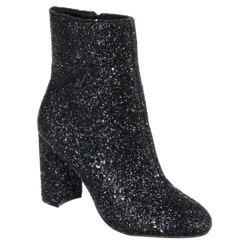 bef75ee5deee Billa Iridescent Sparkle Booties - Black