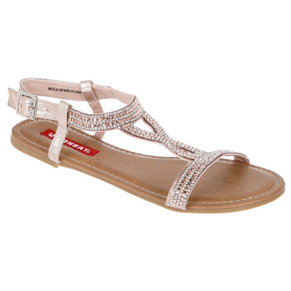 7b1fbcf870a653 Magical Jeweled Sandals - Rose Gold