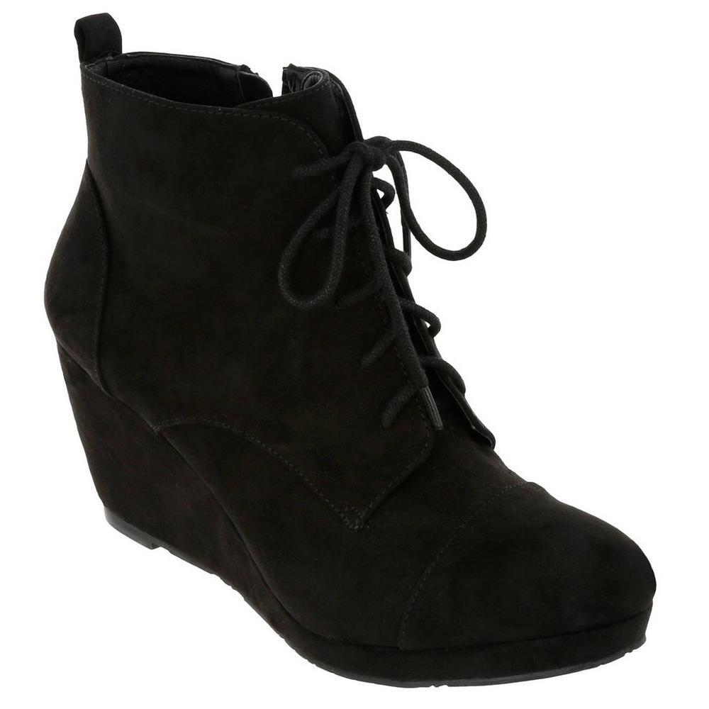 2c22ac285b0 Closed Toe Wedges - Black