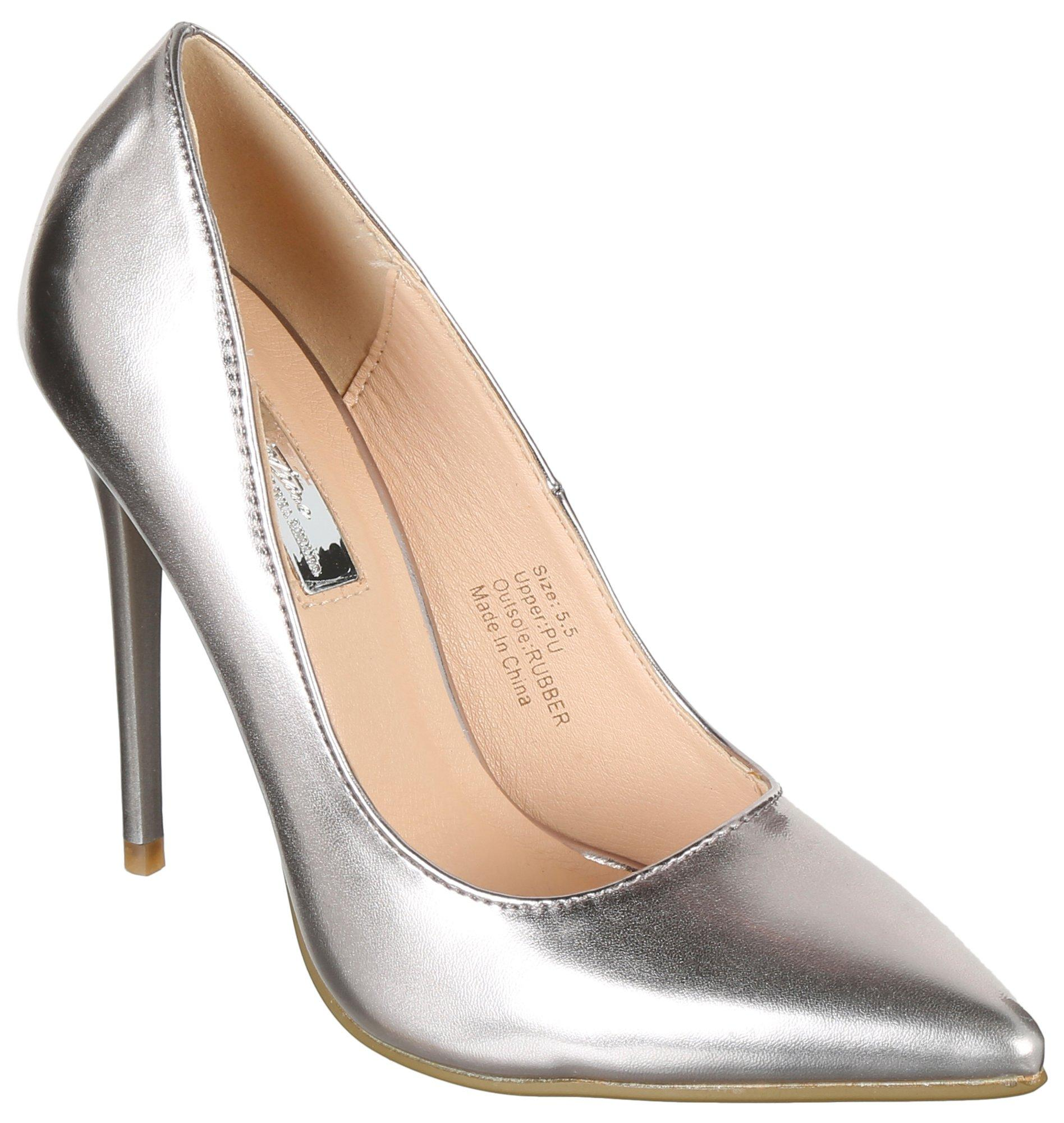 3f51751d3dc Olivia Miller. Metallic Pumps - Silver