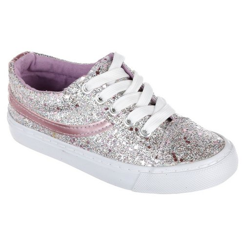 db00a551ee2 Girls Skater Sneakers - Pink Glitter