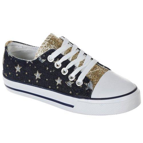 44b64606db82 Girls Chambray Star Sneaker - Medium Wash