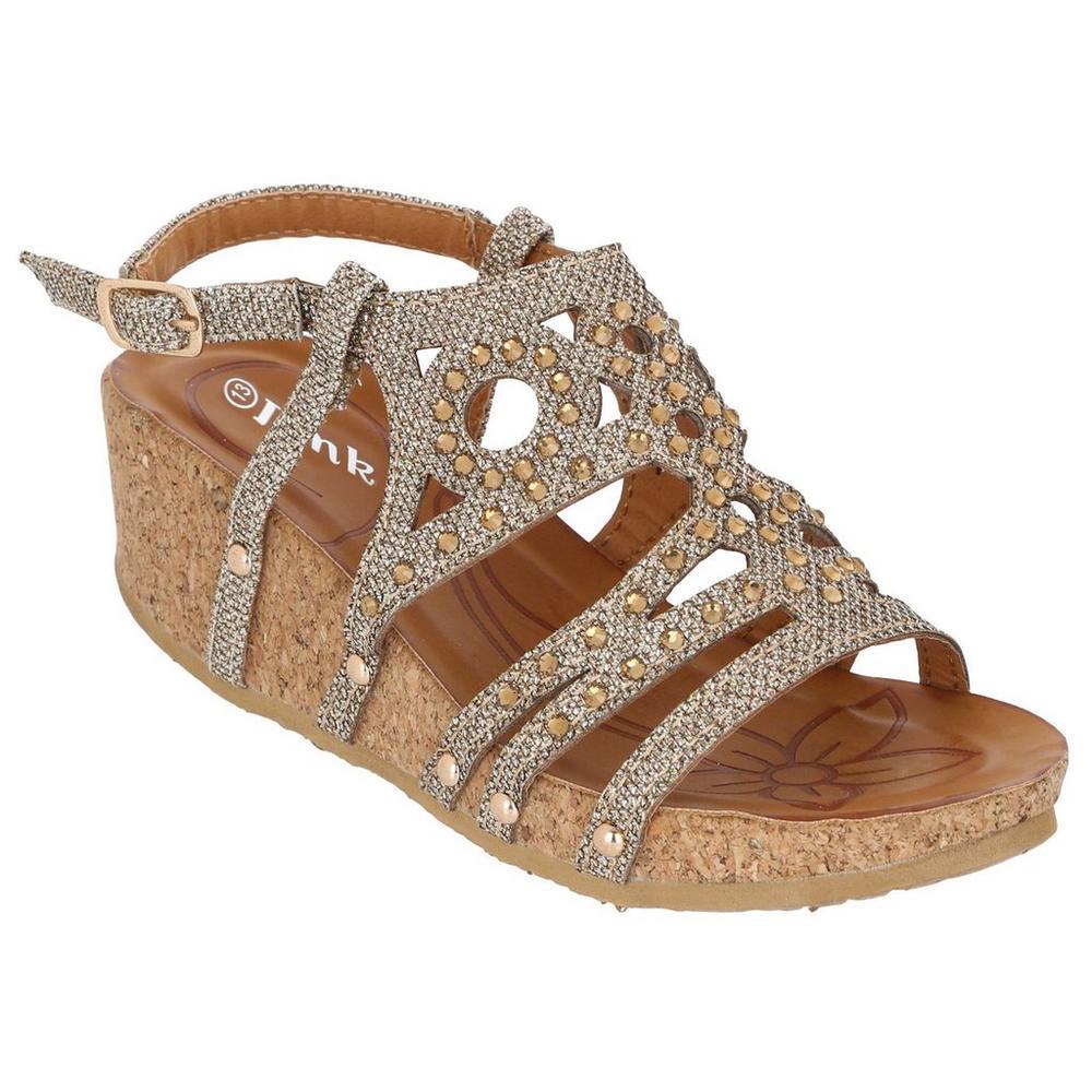c7c4bc39421e Girls  Rene11 Wedge Sandals - Natural