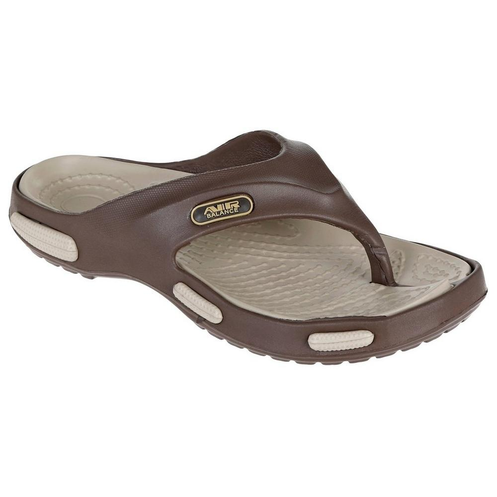 62d5b10fd608 Men s Air Balance Flip Flops - Brown Tan