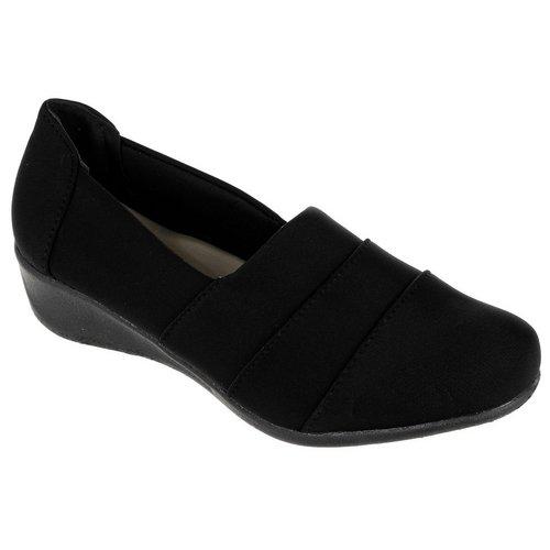 4327fc7d7 Comfort Stretch Medium Wedge Flat - Black