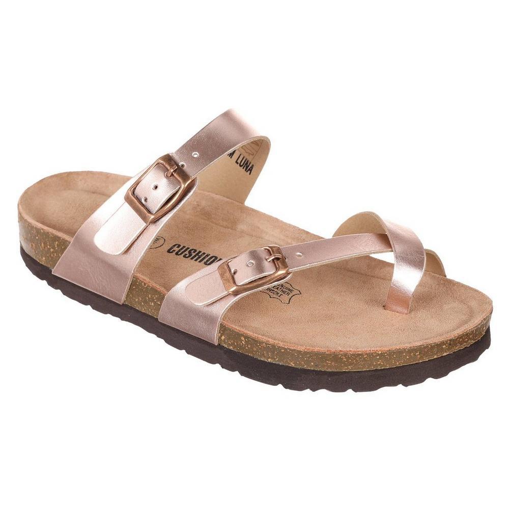 a7a9a1e612fd Luna Metallic Sandals - Rose