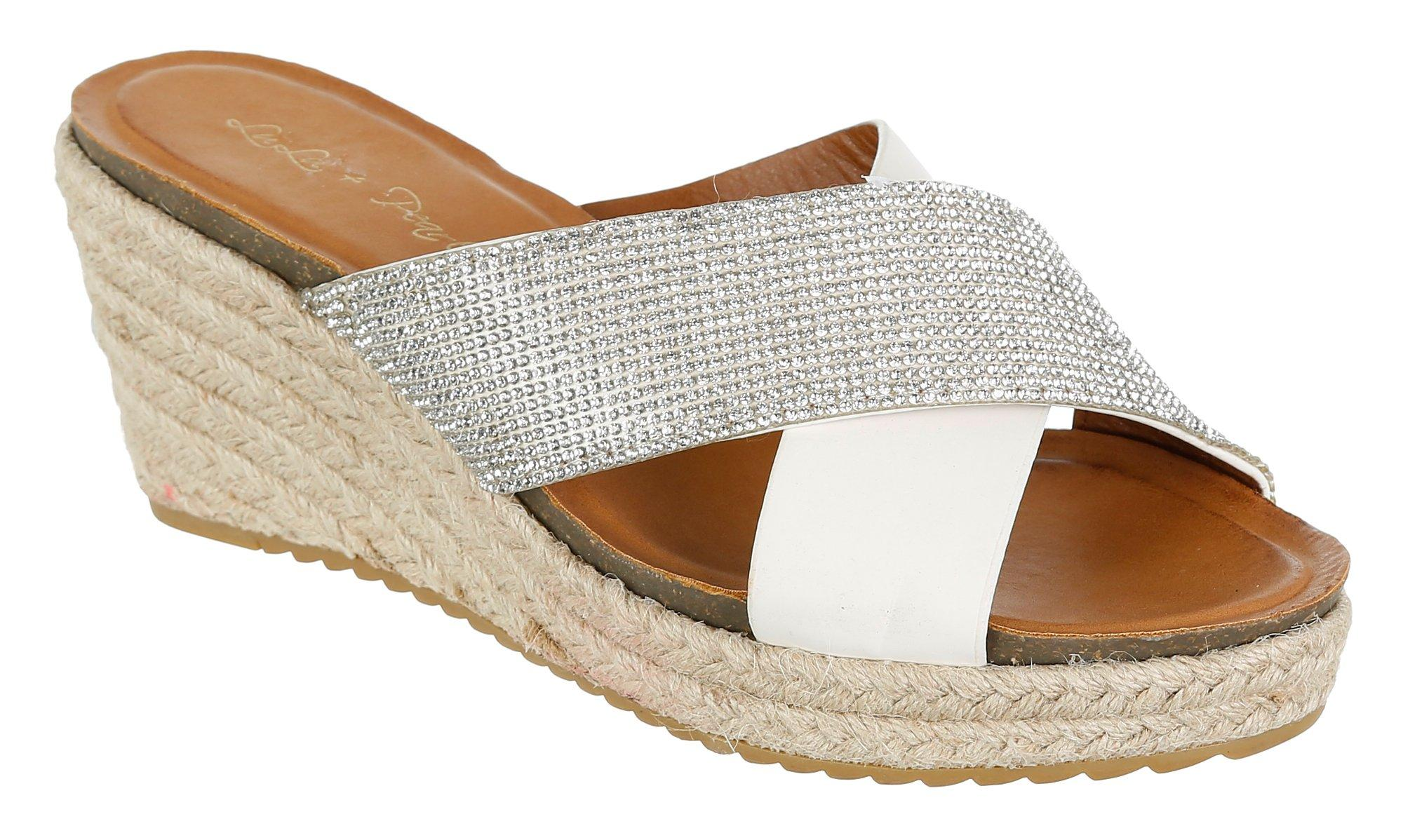 48b1ae8935dad Linley Espadrille Wedges - Brown   Burkes Outlet