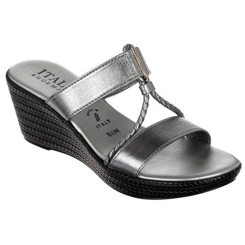Mema Wedge Sandals - Silver 8026a9420