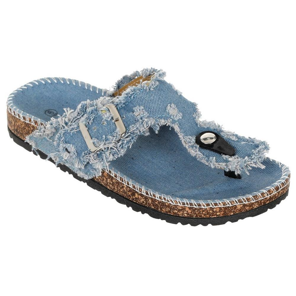 4644b663d1f9 Denim Thong Sandals - Light Wash