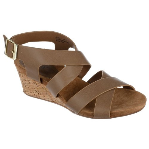 6333d1370339 Weekend Wedges - Taupe