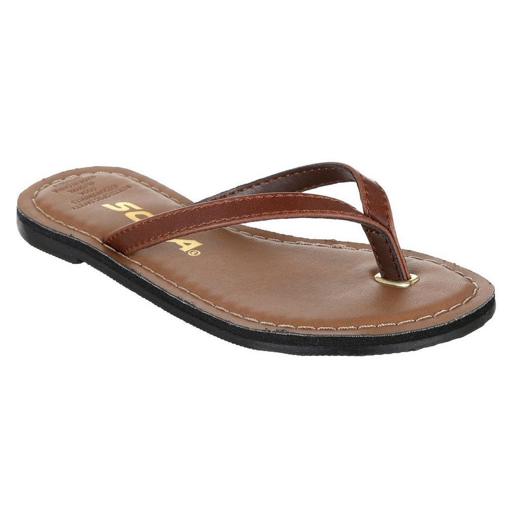 f636e021d Girls Thong Sandals - Brown