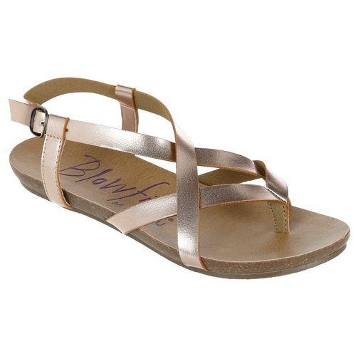 66979362828 Criss Cross Buckle Sandals - Mauve