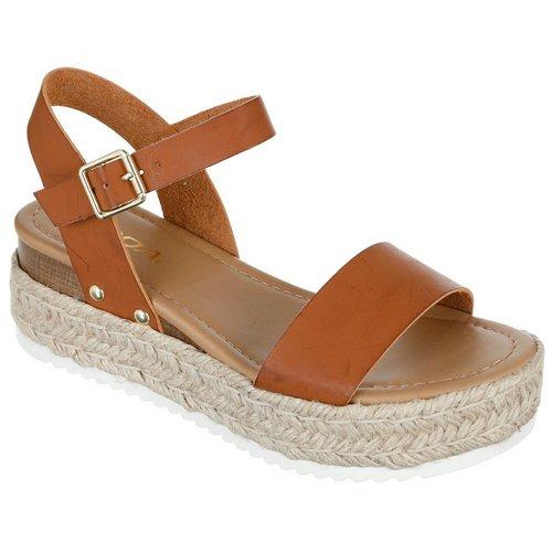Clip Platform Sandals - Tan 6eeb1fc1b