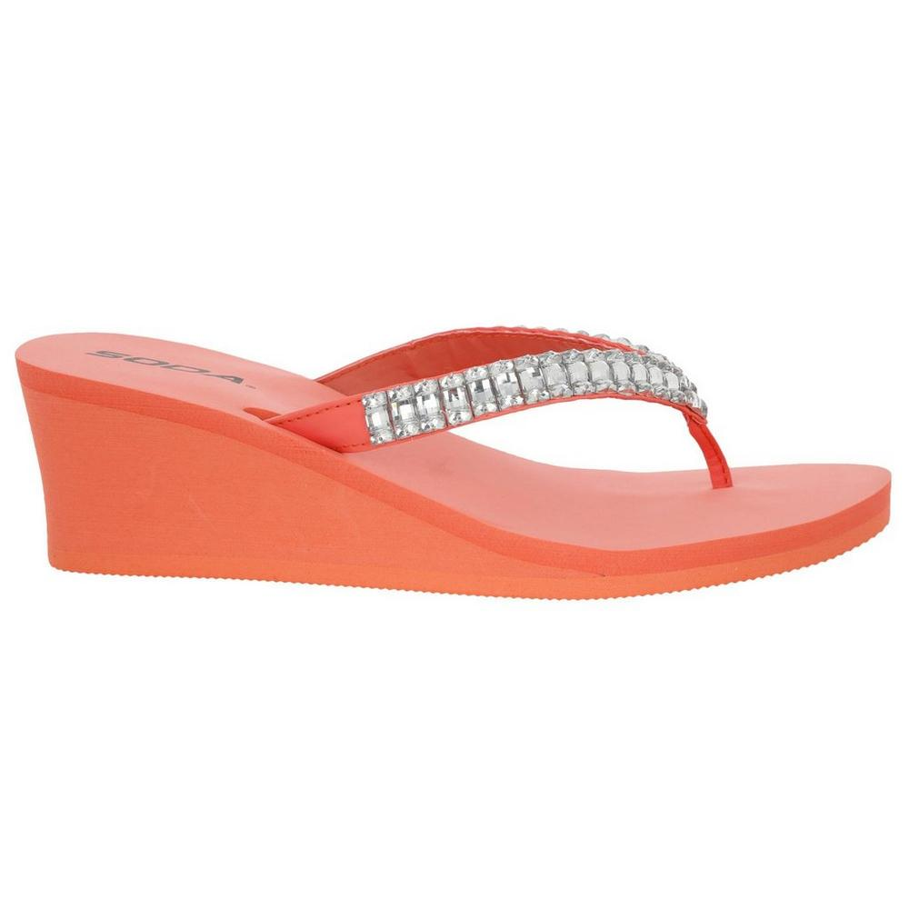 f94a2f3e6dc0 ... Bling Foam Wedge Flip Flops - Pink. Click to zoom
