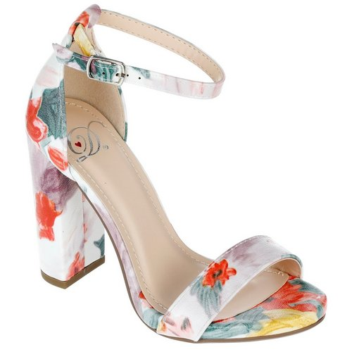 fa050541fefa5 Shiner Single Band Heels - Floral