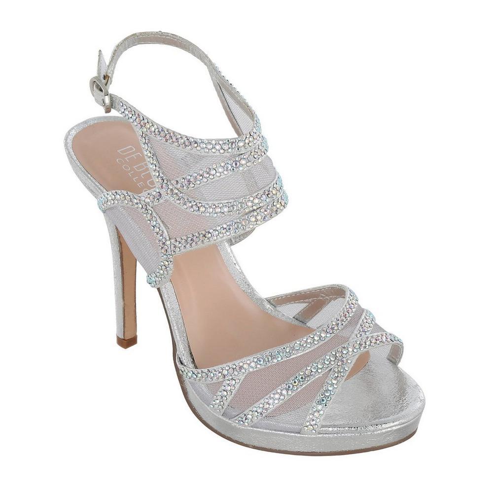 ba1af9bfdf3b Sparkle Platform Heels - Silver