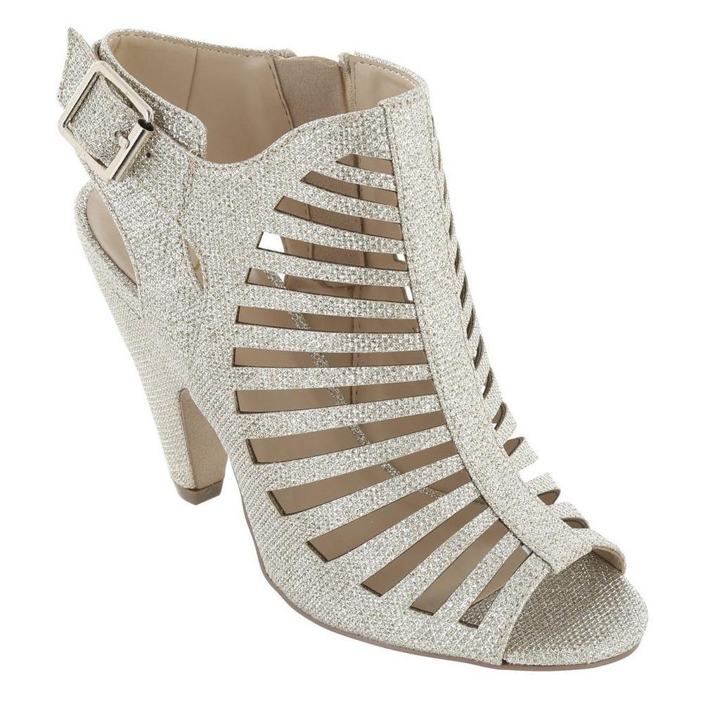 c38700513226 Shaky Shimmer Heels - Silver