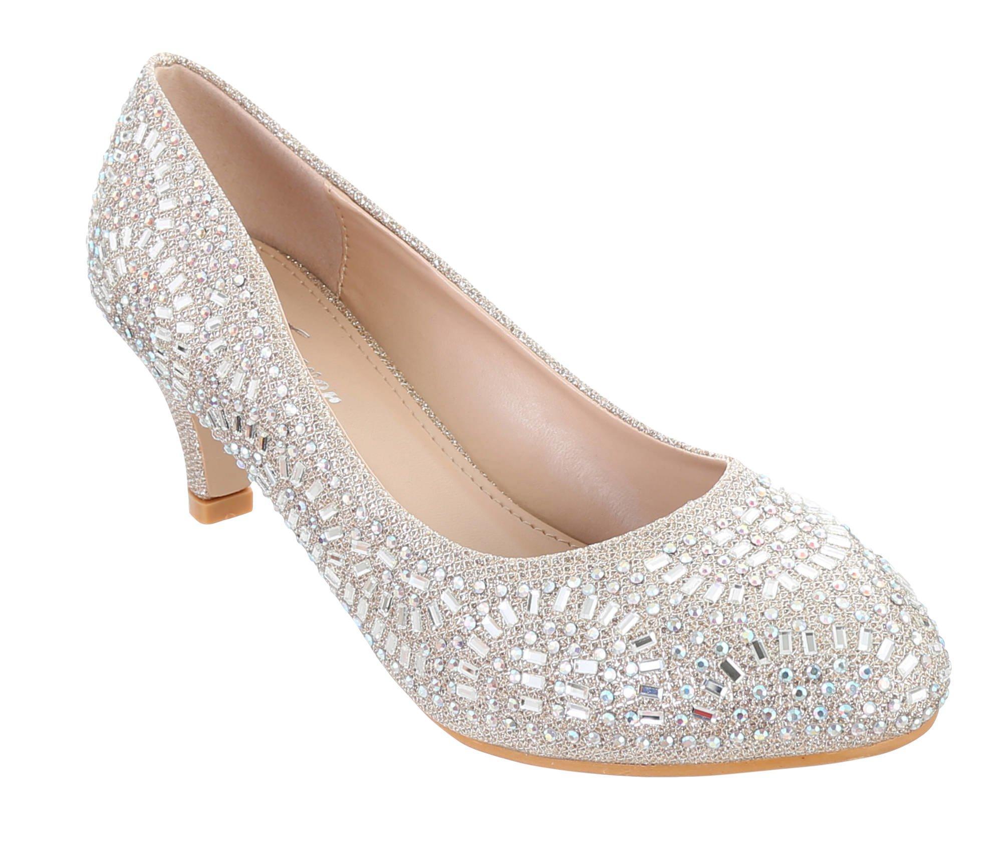 fa6511655b2 Forever. Jemma Jeweled Heels - Champagne