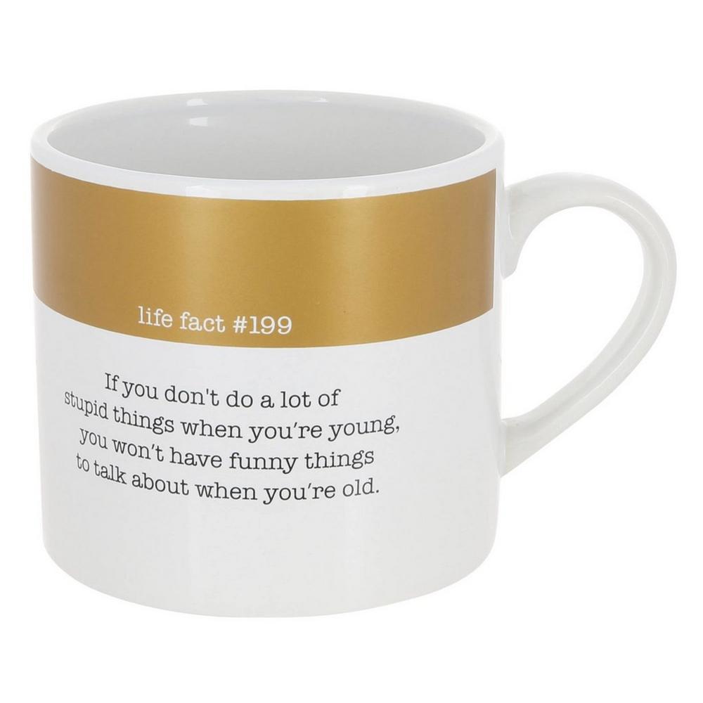 Mug Coffee Whiteamp; 20 Fact199 Oz Life Gold 08vnmNwO